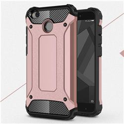 King Kong Armor Premium Shockproof Dual Layer Rugged Hard Cover for Xiaomi Redmi 4 (4X) - Rose Gold