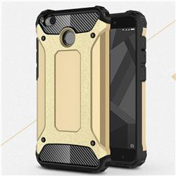 King Kong Armor Premium Shockproof Dual Layer Rugged Hard Cover for Xiaomi Redmi 4 (4X) - Champagne Gold