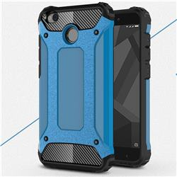 King Kong Armor Premium Shockproof Dual Layer Rugged Hard Cover for Xiaomi Redmi 4 (4X) - Sky Blue