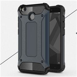 King Kong Armor Premium Shockproof Dual Layer Rugged Hard Cover for Xiaomi Redmi 4 (4X) - Navy