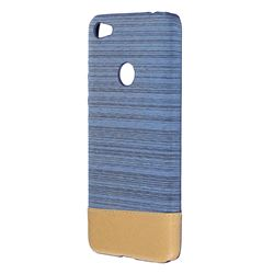 Canvas Cloth Coated Plastic Back Cover for Xiaomi Redmi 4 (4X) - Light Blue