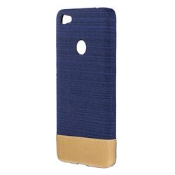 Canvas Cloth Coated Plastic Back Cover for Xiaomi Redmi 4 (4X) - Dark Blue