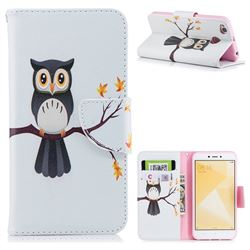 Owl on Tree Leather Wallet Case for Xiaomi Redmi 4 (4X)