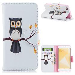 Owl on Tree Leather Wallet Case for Xiaomi Redmi 4 (4X)
