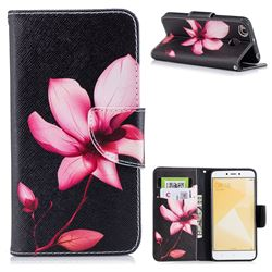 Lotus Flower Leather Wallet Case for Xiaomi Redmi 4 (4X)