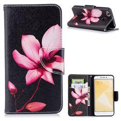 Lotus Flower Leather Wallet Case for Xiaomi Redmi 4 (4X)