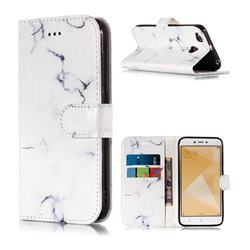 Soft White Marble PU Leather Wallet Case for Xiaomi Redmi 4 (4X)