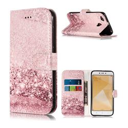 Glittering Rose Gold PU Leather Wallet Case for Xiaomi Redmi 4 (4X)