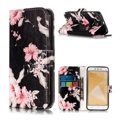Azalea Flower PU Leather Wallet Case for Xiaomi Redmi 4 (4X)