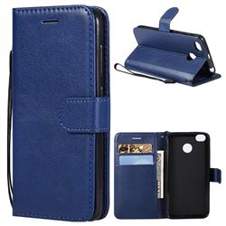 Retro Greek Classic Smooth PU Leather Wallet Phone Case for Xiaomi Redmi 4 (4X) - Blue