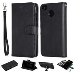 Retro Greek Detachable Magnetic PU Leather Wallet Phone Case for Xiaomi Redmi 4 (4X) - Black