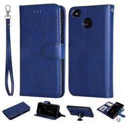 Retro Greek Detachable Magnetic PU Leather Wallet Phone Case for Xiaomi Redmi 4 (4X) - Blue