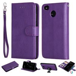 Retro Greek Detachable Magnetic PU Leather Wallet Phone Case for Xiaomi Redmi 4 (4X) - Purple