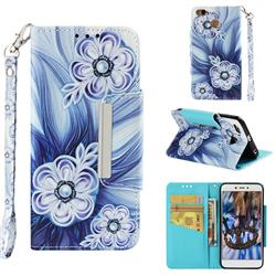 Button Flower Big Metal Buckle PU Leather Wallet Phone Case for Xiaomi Redmi 4 (4X)