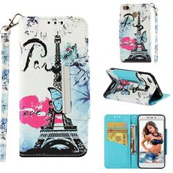 Lip Tower Big Metal Buckle PU Leather Wallet Phone Case for Xiaomi Redmi 4 (4X)
