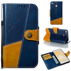 Retro Magnetic Stitching Wallet Flip Cover for Xiaomi Redmi 4 (4X) - Blue