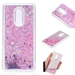 Glitter Sand Mirror Quicksand Dynamic Liquid Star TPU Case for Mi Xiaomi Redmi 5 - Cherry Pink