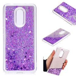 Glitter Sand Mirror Quicksand Dynamic Liquid Star TPU Case for Mi Xiaomi Redmi 5 - Purple