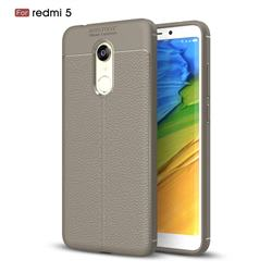 Luxury Auto Focus Litchi Texture Silicone TPU Back Cover for Mi Xiaomi Redmi 5 - Gray