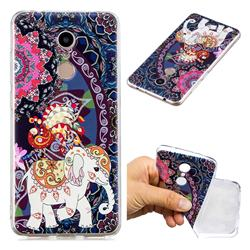 Totem Flower Elephant Super Clear Soft TPU Back Cover for Mi Xiaomi Redmi 5