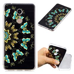 Circle Butterflies Super Clear Soft TPU Back Cover for Mi Xiaomi Redmi 5