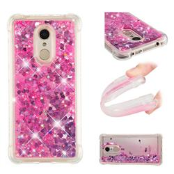 Dynamic Liquid Glitter Sand Quicksand TPU Case for Mi Xiaomi Redmi 5 - Pink Love Heart