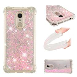 Dynamic Liquid Glitter Sand Quicksand TPU Case for Mi Xiaomi Redmi 5 - Silver Powder Star