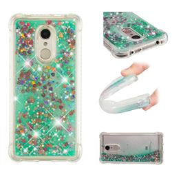 Dynamic Liquid Glitter Sand Quicksand TPU Case for Mi Xiaomi Redmi 5 - Green Love Heart