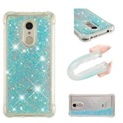 Dynamic Liquid Glitter Sand Quicksand TPU Case for Mi Xiaomi Redmi 5 - Silver Blue Star