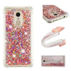 Dynamic Liquid Glitter Sand Quicksand TPU Case for Mi Xiaomi Redmi 5 - Rose Gold Love Heart