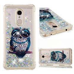 Sweet Gray Owl Dynamic Liquid Glitter Sand Quicksand Star TPU Case for Mi Xiaomi Redmi 5