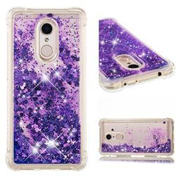 Dynamic Liquid Glitter Sand Quicksand Star TPU Case for Mi Xiaomi Redmi 5 - Purple
