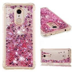 Dynamic Liquid Glitter Sand Quicksand Star TPU Case for Mi Xiaomi Redmi 5 - Diamond Rose
