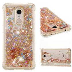 Dynamic Liquid Glitter Sand Quicksand Star TPU Case for Mi Xiaomi Redmi 5 - Diamond Gold