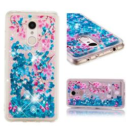 Blue Plum Blossom Dynamic Liquid Glitter Quicksand Soft TPU Case for Mi Xiaomi Redmi 5