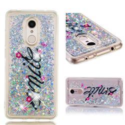 Smile Flower Dynamic Liquid Glitter Quicksand Soft TPU Case for Mi Xiaomi Redmi 5