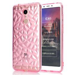 Diamond Pattern Shining Soft TPU Phone Back Cover for Mi Xiaomi Redmi 5 - Pink