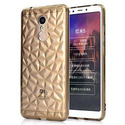 Diamond Pattern Shining Soft TPU Phone Back Cover for Mi Xiaomi Redmi 5 - Gray