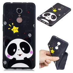 Cute Bear 3D Embossed Relief Black TPU Cell Phone Back Cover for Mi Xiaomi Redmi 5