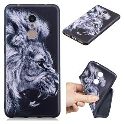 Lion 3D Embossed Relief Black TPU Cell Phone Back Cover for Mi Xiaomi Redmi 5