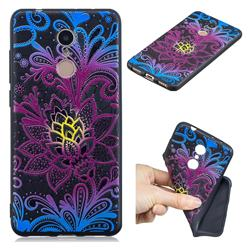 Colorful Lace 3D Embossed Relief Black TPU Cell Phone Back Cover for Mi Xiaomi Redmi 5