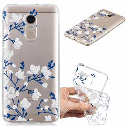 Magnolia Flower Clear Varnish Soft Phone Back Cover for Mi Xiaomi Redmi 5