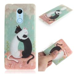 Black and White Cat IMD Soft TPU Cell Phone Back Cover for Mi Xiaomi Redmi 5