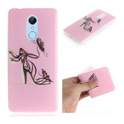 Butterfly High Heels IMD Soft TPU Cell Phone Back Cover for Mi Xiaomi Redmi 5