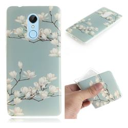 Magnolia Flower IMD Soft TPU Cell Phone Back Cover for Mi Xiaomi Redmi 5