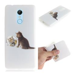 Cat and Tiger IMD Soft TPU Cell Phone Back Cover for Mi Xiaomi Redmi 5