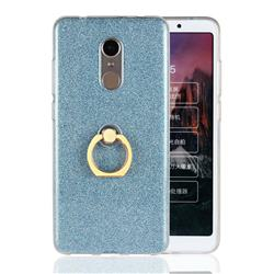 Luxury Soft TPU Glitter Back Ring Cover with 360 Rotate Finger Holder Buckle for Mi Xiaomi Redmi 5 - Blue