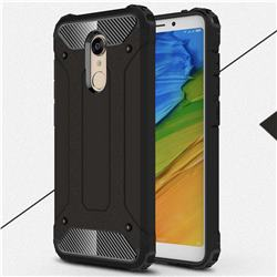 King Kong Armor Premium Shockproof Dual Layer Rugged Hard Cover for Mi Xiaomi Redmi 5 - Black Gold