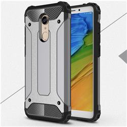 King Kong Armor Premium Shockproof Dual Layer Rugged Hard Cover for Mi Xiaomi Redmi 5 - Silver Grey