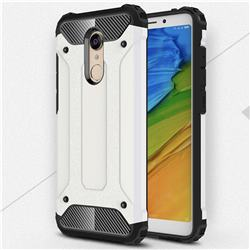 King Kong Armor Premium Shockproof Dual Layer Rugged Hard Cover for Mi Xiaomi Redmi 5 - White